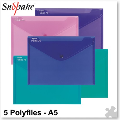 Polyfile Electra A5 Assorted Colours