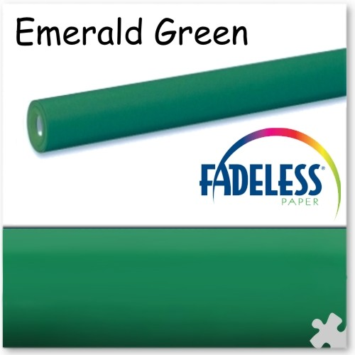 Emerald Green - 15m Roll of Fadeless Display Paper