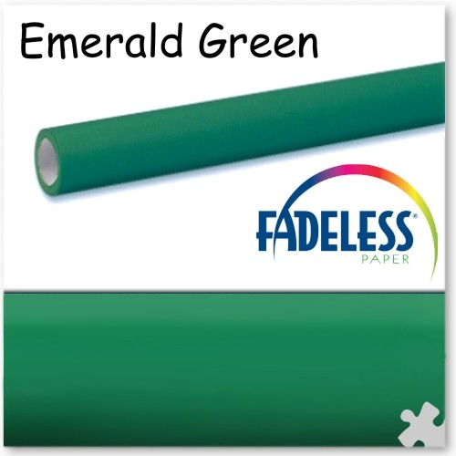 Emerald Green Fadeless Display Paper, 3.6m Long Roll
