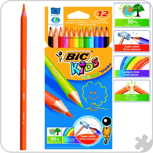 12 Bic Evolution Colouring Pencils
