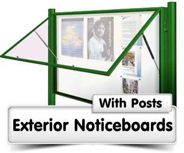 Noticeboards with Posts