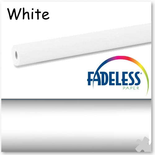 15m Roll of White Fadeless Display Paper