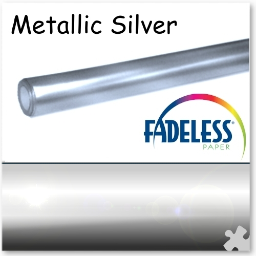 Metallic Silver Fadeless Display Paper - 3.6m Roll