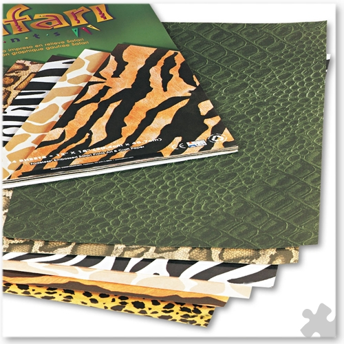 Fadeless Embossed Safari Prints Sheets, 30 x 48cm