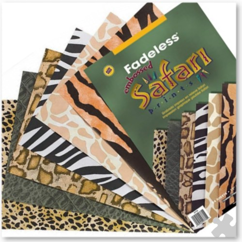 Fadeless Embossed Safari Prints Sheets