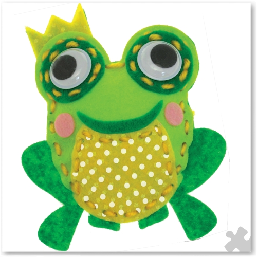 Finn the Frog Woodland Buddies Sew Kit
