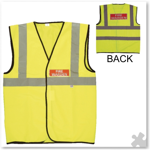 Fire Warden Vest High Visibility - XL