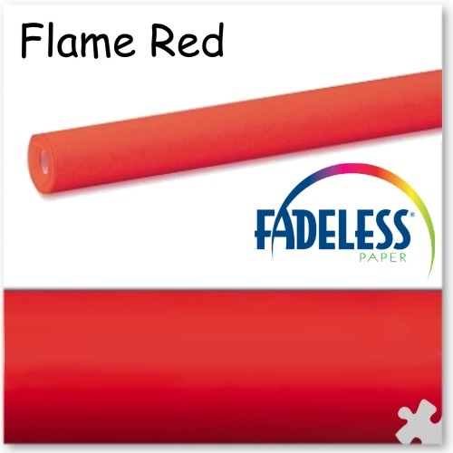 15m Roll of Flame Red Fadeless Display Paper