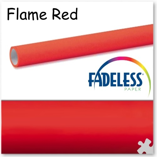 Flame Red Fadeless Display Paper, 3.6m Long Roll