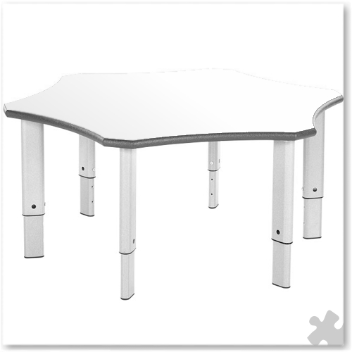 Flower Shaped Whiteboard Adjustable Table