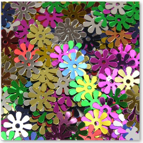 Flower sequins, 1kg Bag