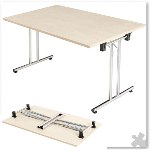 Folding Table in Beech- 1400 x 800mm