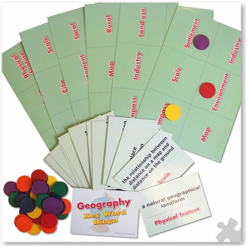 Geography Basics Key Word Bingo