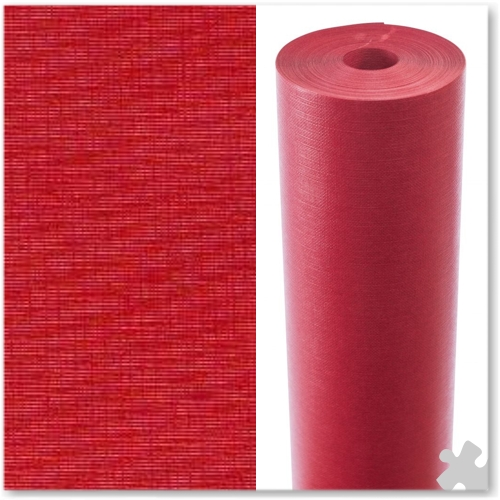 Geranium Red Embossed Display Paper - 25m roll