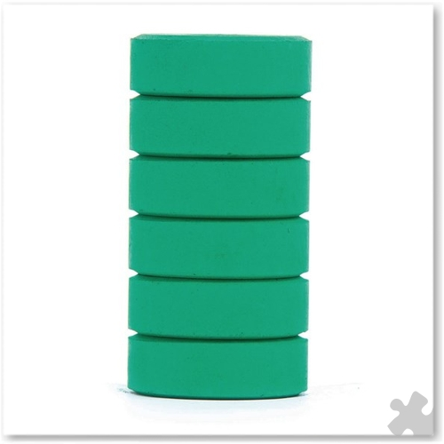 Green Tempera Colour Blocks, 6 Pack