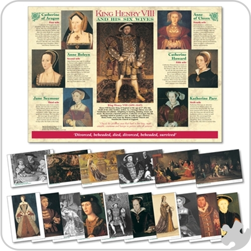 Henry VIII & His Six Wives Chart & Photopack