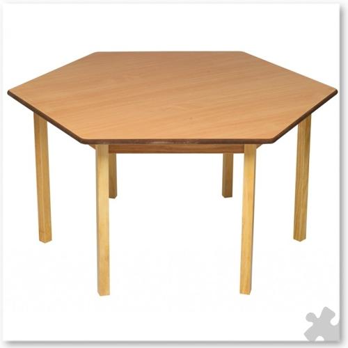 Hexagonal Wooden Table In Beech