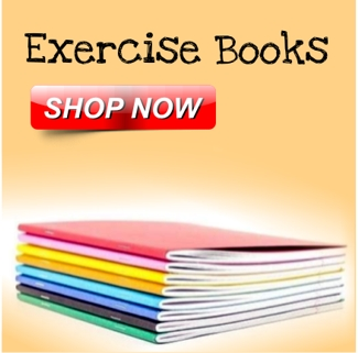 A4 Exercise Books, Exercise paper, Graph & Maths Papers, Junior Exercise Books, Scrap Books, Special Books, Book Covering & Bags
