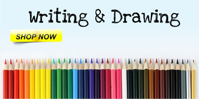 Chalk, Colouring Pencils, Colouring Pens, Crayons, Drawing Templates, Drywipe Pens, Drywipe Markers, Handwriting Pens, Highlighters, Marker Pens, Pastels, Pencil Sharpeners, Erasers, Pencils, Pens, Specialist Pens, Markers