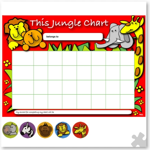 Jungle Reward Chart with Stickers