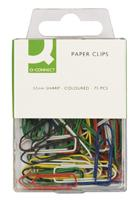 Coloured Paperclips, 10x75 per pack 32mm
