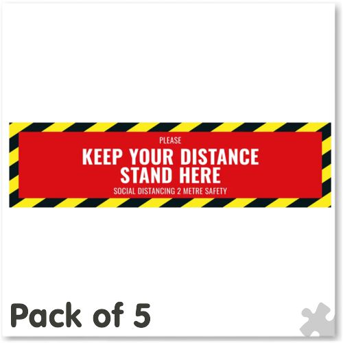 Keep Your Distance Floor Stickers
