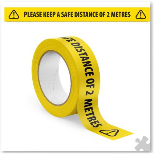 Please Keep A Safe Distance Floor Tape