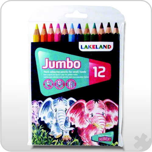 12 Lakeland Jumbo Colouring Pencils