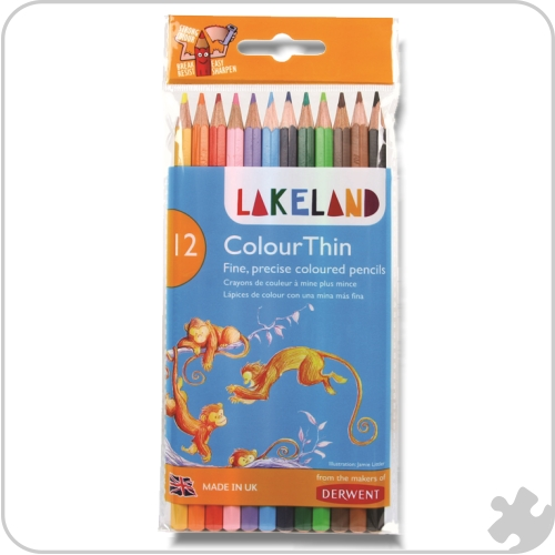 12 Lakeland Colourthin Pencils