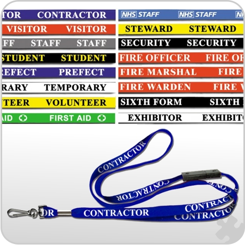 Lanyards Printed with Fire Warden