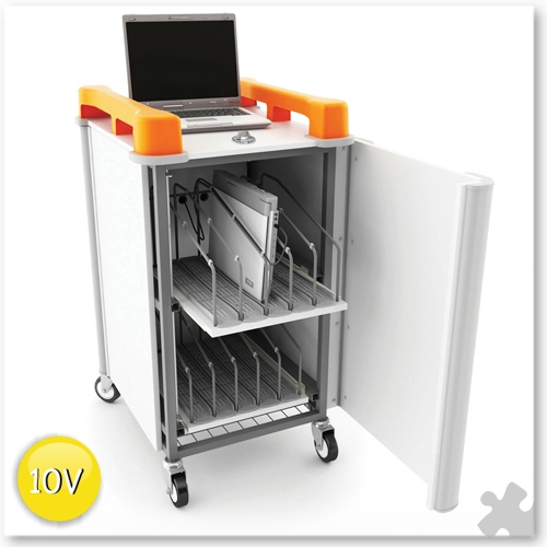 10 bay Vertical Laptop charging unit