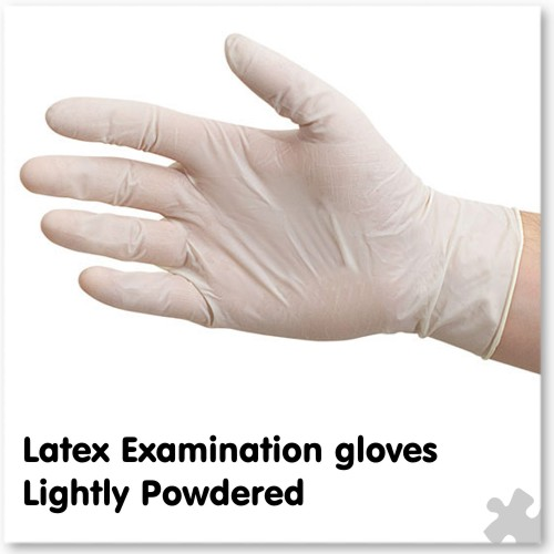 Latex Examination Gloves, Lightly Powdered