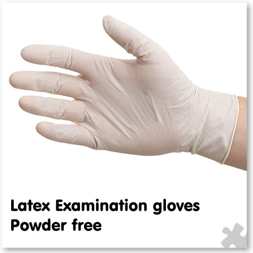 Latex Examination Gloves, Powder Free