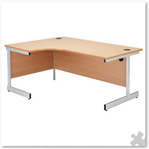 1200mm Left Hand Radial Cantilever Desk in Beech