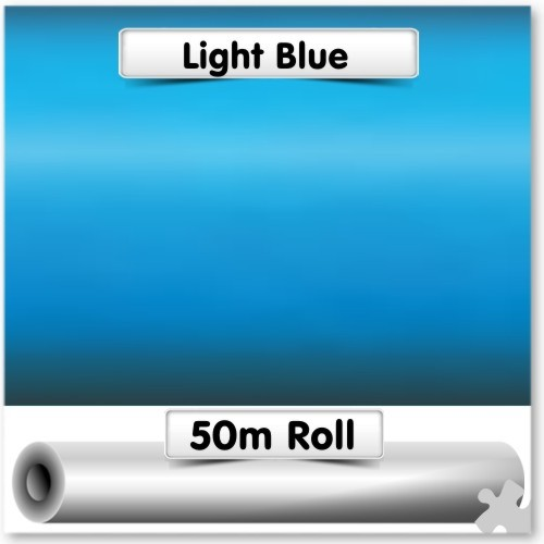 50m Roll of Light Blue Poster Paper