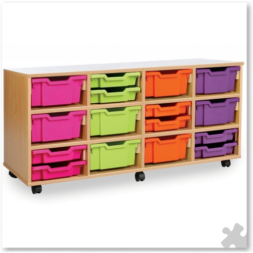 12 Deep or 24 Shallow Tray Combination Storage Unit