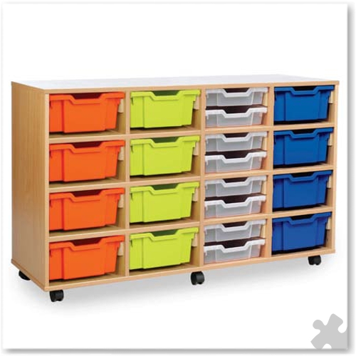 16 Deep or 32 Shallow Tray Combination Storage Unit