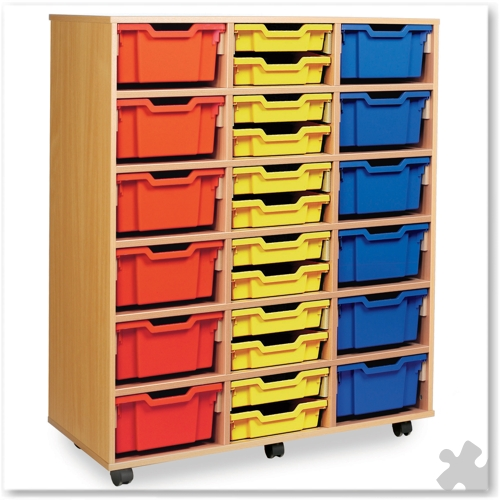 18 Deep or 36 Shallow Tray Combination Storage Unit