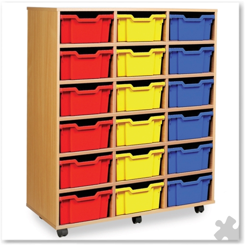 18 Deep Tray Combination Storage Unit