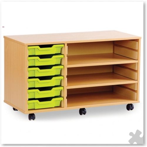 06 Tray Shallow Storage Tray Unit with Shelves