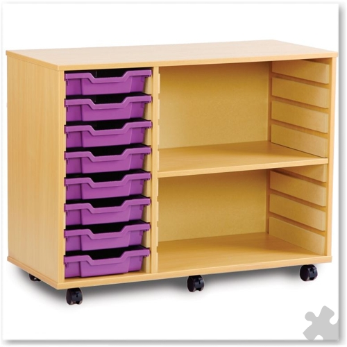 08 Tray Shallow Storage Tray Unit with Shelves