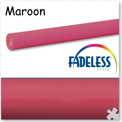 Maroon Fadeless Display Paper - 15m Roll