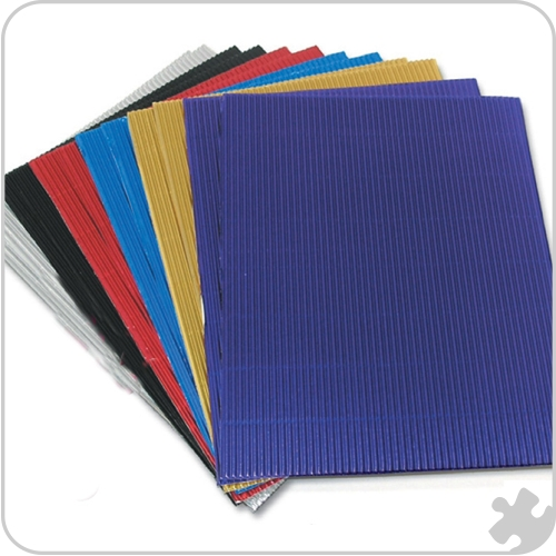 Metallic Corrugated Card