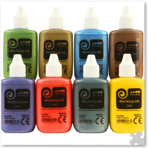 Metallic Marbling Inks, 8 x 25ml