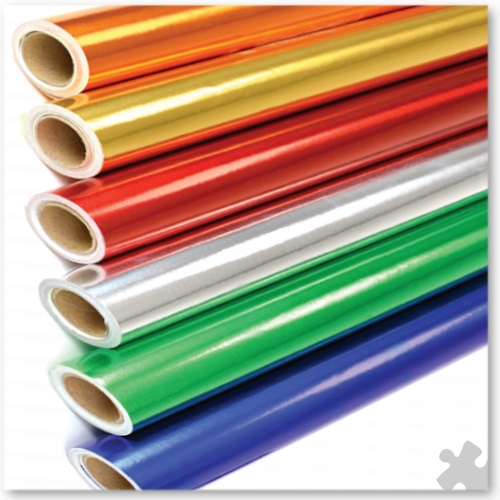 Metallic Foil Paper Backed Rolls, 6 Rolls