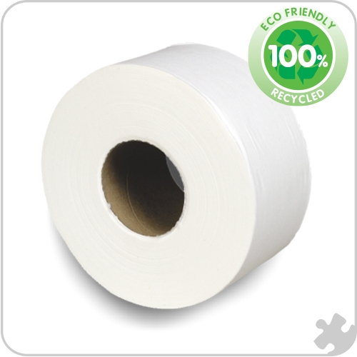 Premium Mini Jumbo Toilet Rolls, 76mm Core