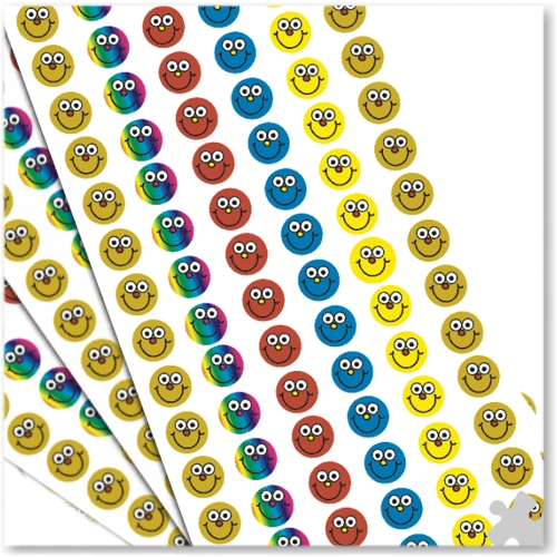 10mm Mini Stickers Smiley Faces
