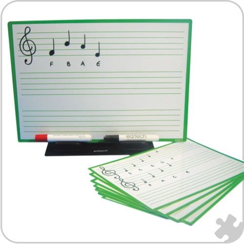Music Score Boards, 30 Class Pack + a3 Teachers board