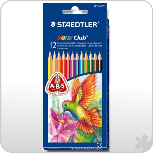 12 Noris Club Triplus Slim Colouring Pencils