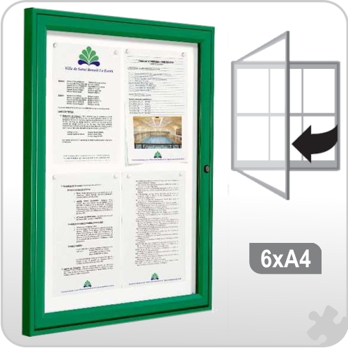 6 x A4 Notice board - Coloured